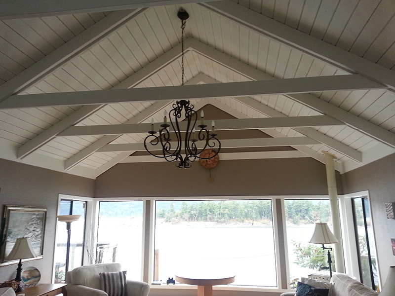 Picture of painted vaulted ceiling by Arbor Renovations