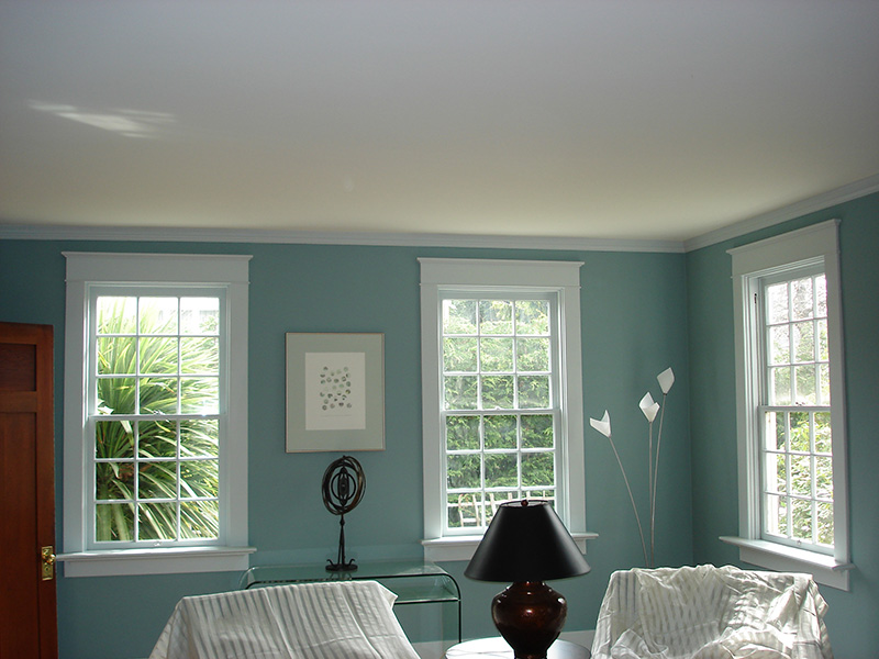 Window casing and interior painting