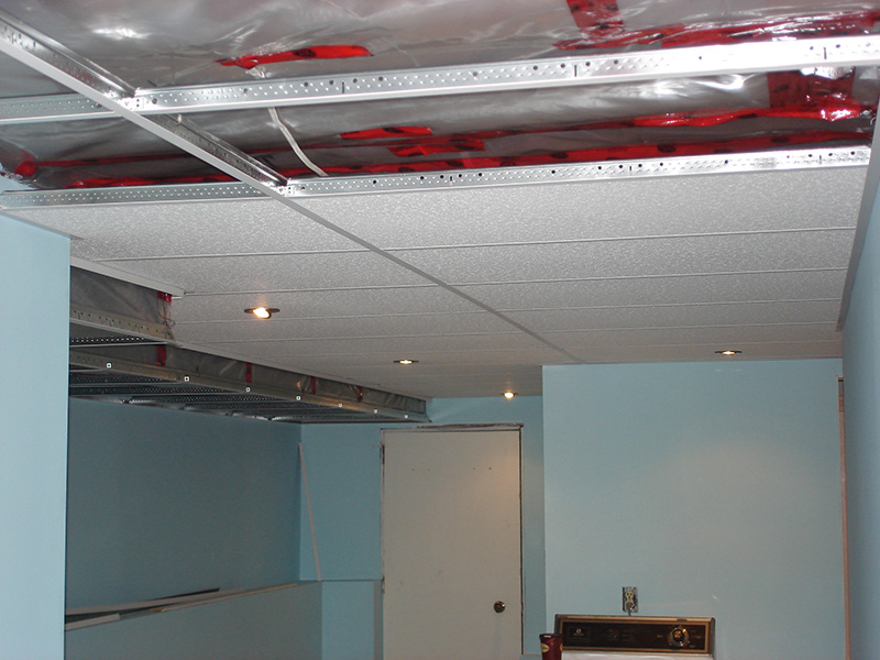 T-bar ceiling installation