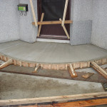 Picture of a curved concrete patio