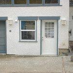 Picture of exterior stucco, window & door installation