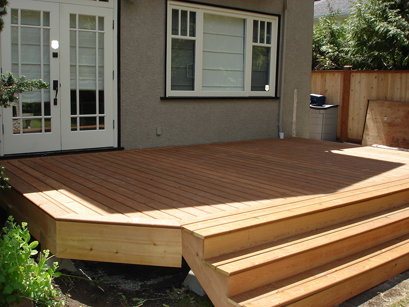 Wooden deck construction