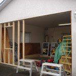Framing for garage enclosure