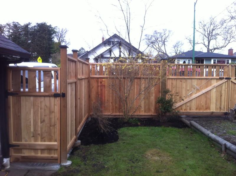 Deck & Gate constructed from cedar panels