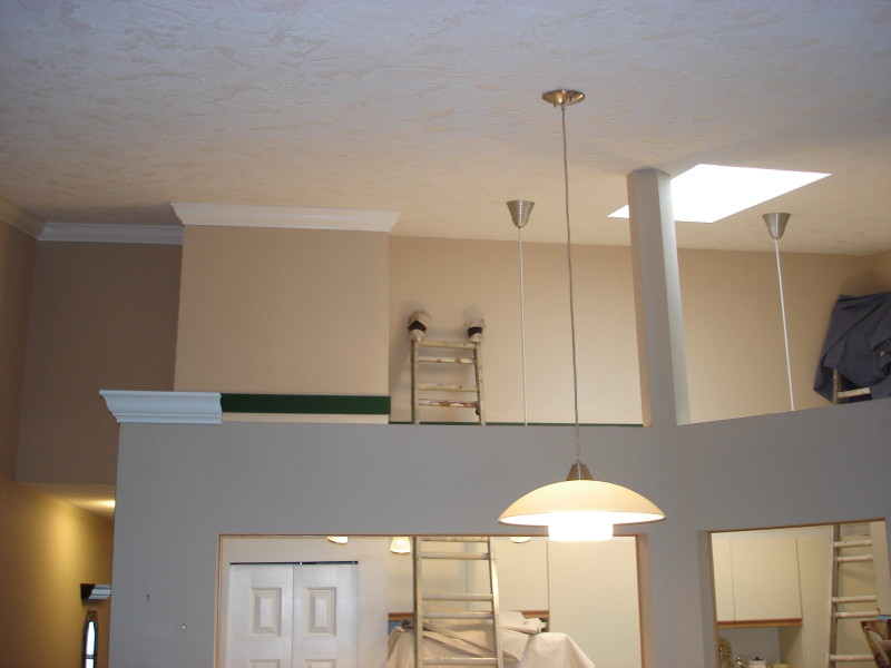 Painted ceiling and Crown Moulding