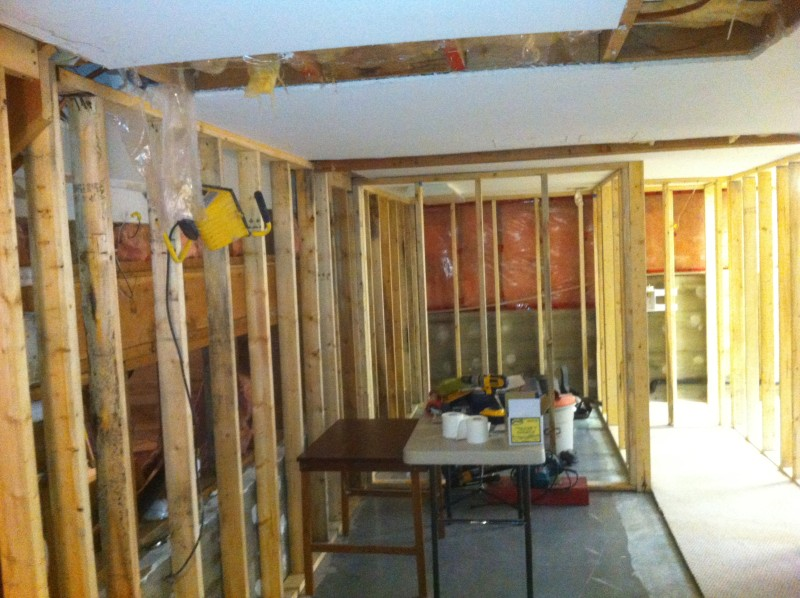 Basement suite framing