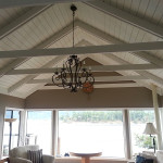 Painted vaulted ceiling by Arbor Renovations