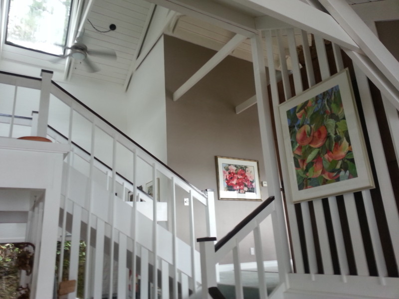 Finishing carpentry on staircase and interior painting renovations