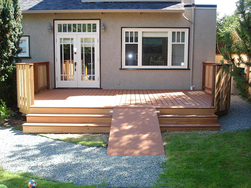 wheelchair accessable ramp installed by arbor renos in victoria bc