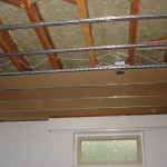 Basement suite acoustical ceiling
