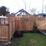 Deck & Gate constructed from cedar panels
