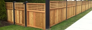 picture of wood fence installed by arbor renovations in victoria