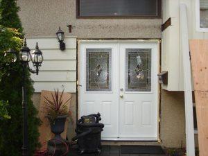 Exterior doors with windows install.