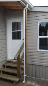 Window, door and exterior siding.