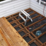 Deck instalation over living space.