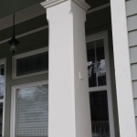 Front porch post . Finishing carpentry.