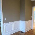 Interior wall painting and wainscoting. instalation.