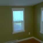 Window installation and painted casing.