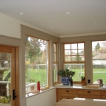 Finishing carpentry, window casing and trim.