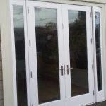 Patio double door installation.