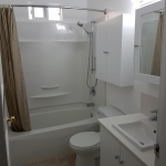 Full tub surround ,toilet, sink,cabinet installation.